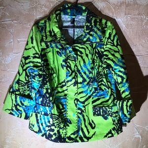Berek Green Colorful Bright Jacket Size Large